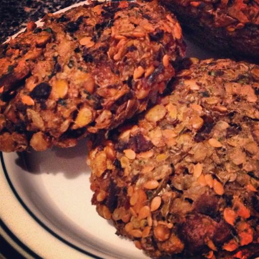 lentil-mushroom burger gluten free vegan